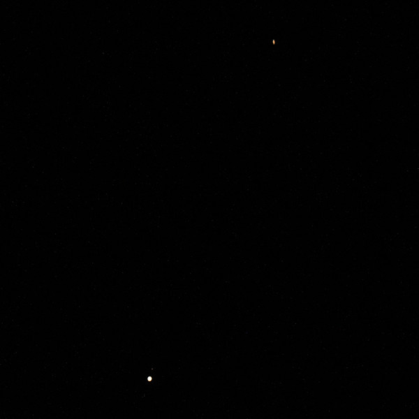 Jupiter & Saturn Conjunction - 48' apart - 14/12/2020 (Processed image)