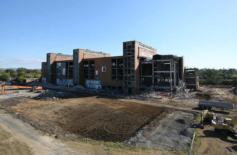 A few weeks into the demolition of the structure