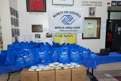 """July 12th, 2013 Walmart & Feeding South Florida """"Meals of Hope"""" Food Pack Distribution at Marti Huizenga Boys and Girls Club"""