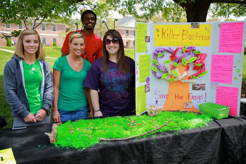 Earth Day celebration on the campus of Gardner-Webb University; April 14, 2011.