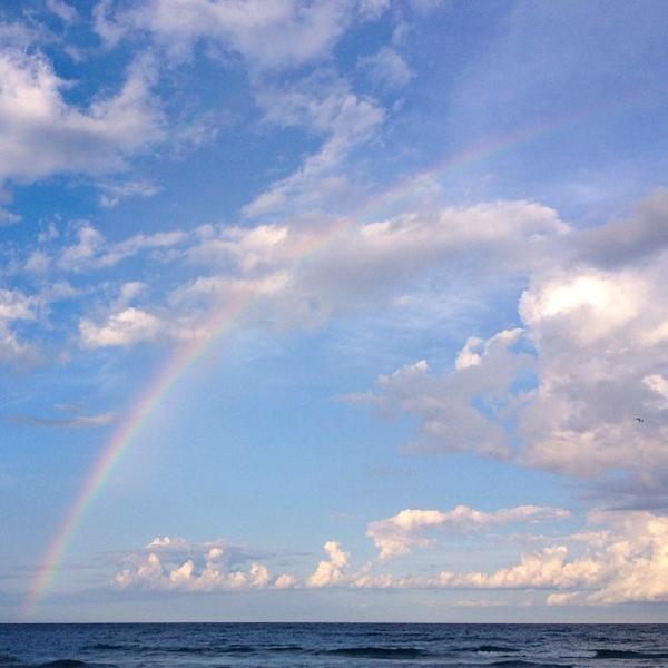#beach #rainbow #delraybeach