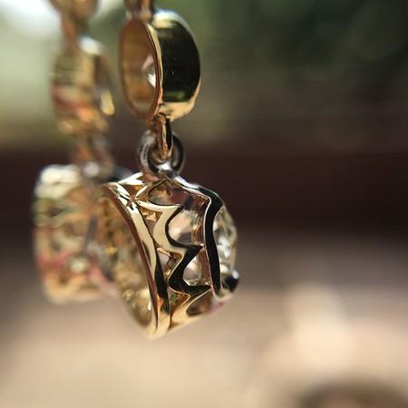 1.40ctw OEC Diamond Dangle Earrings