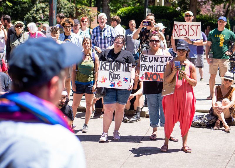 'Not In Portland' Anti-ICE Rally at City Hall