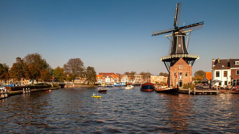De Adriaan windmill on the Spaarne river