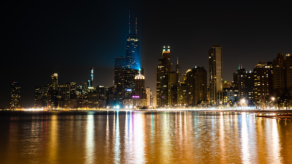 Chicago Skyline from North Ave Beach