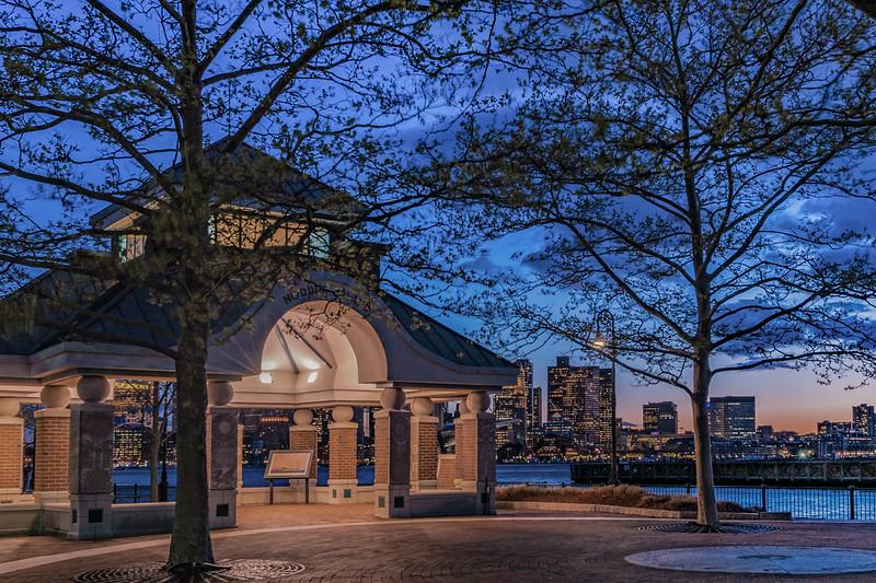 Pier's Park view of Boston