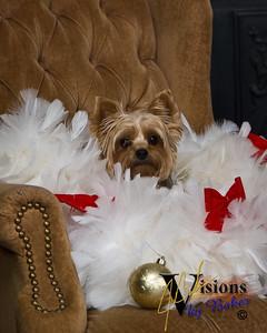 Chloe & Santa 2009