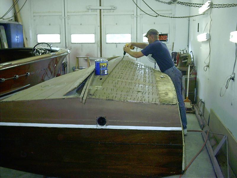 removing bottom planks