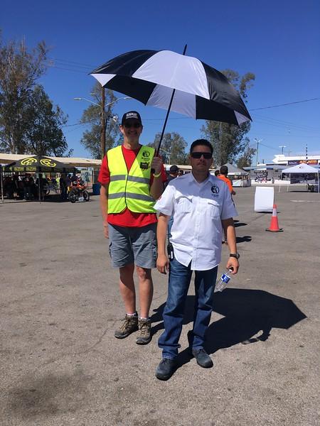 Sonora Rally 2018 - Day 1 - Organization VIP Rodolpho Fernandez with his umbrella girl Rich