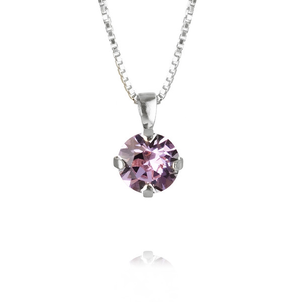Classic Stud Necklace - Violet - Rhodium.jpg