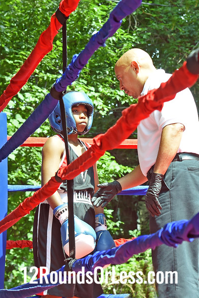Bout 6:   Khalil Abdullah, Red Gloves, 94 lbs, Cory FC -vs- Mizek Foster, Blue Gloves, 91 lbs