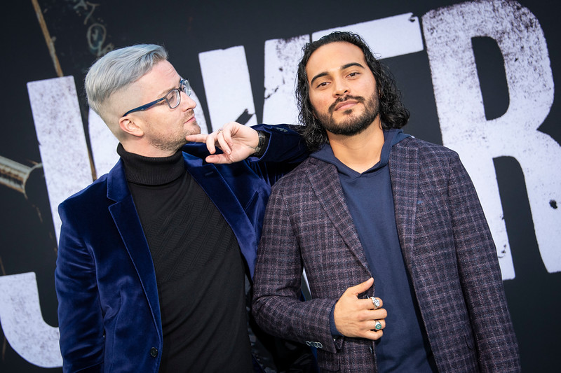 """HOLLYWOOD, CALIFORNIA - SEPTEMBER 28: Samuel Anthony and Erik Velasquez attend the premiere of Warner Bros Pictures """"Joker"""" on Saturday, September 28, 2019 in Hollywood, California. (Photo by Tom Sorensen/Moovieboy Pictures)"""