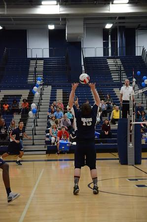 OE Varsity Boys Volleyball Senior Night 2016