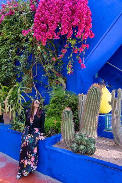 Amanda at Jardin Marjorelle