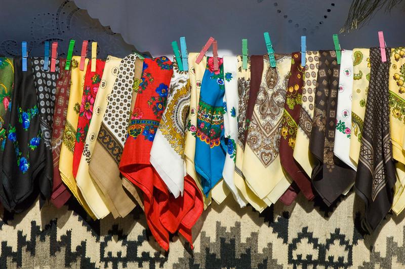 Handcrafted souvenirs on sale, Voronet, Moldavia, Romania