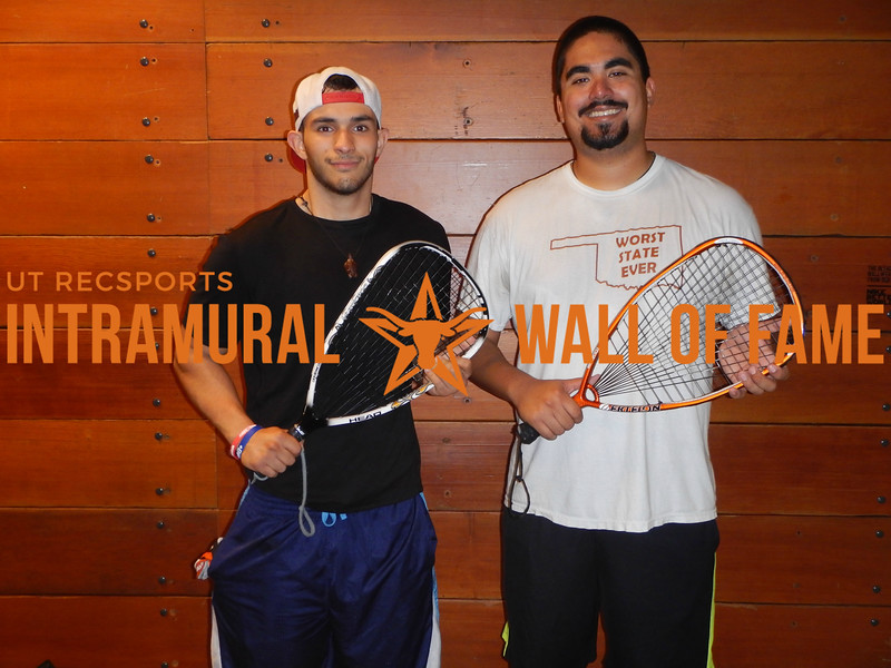 SPRING RACQUETBALL Men's C Doubles Champion  We don't squash our balls  Omar Guerrero & Alec Pena