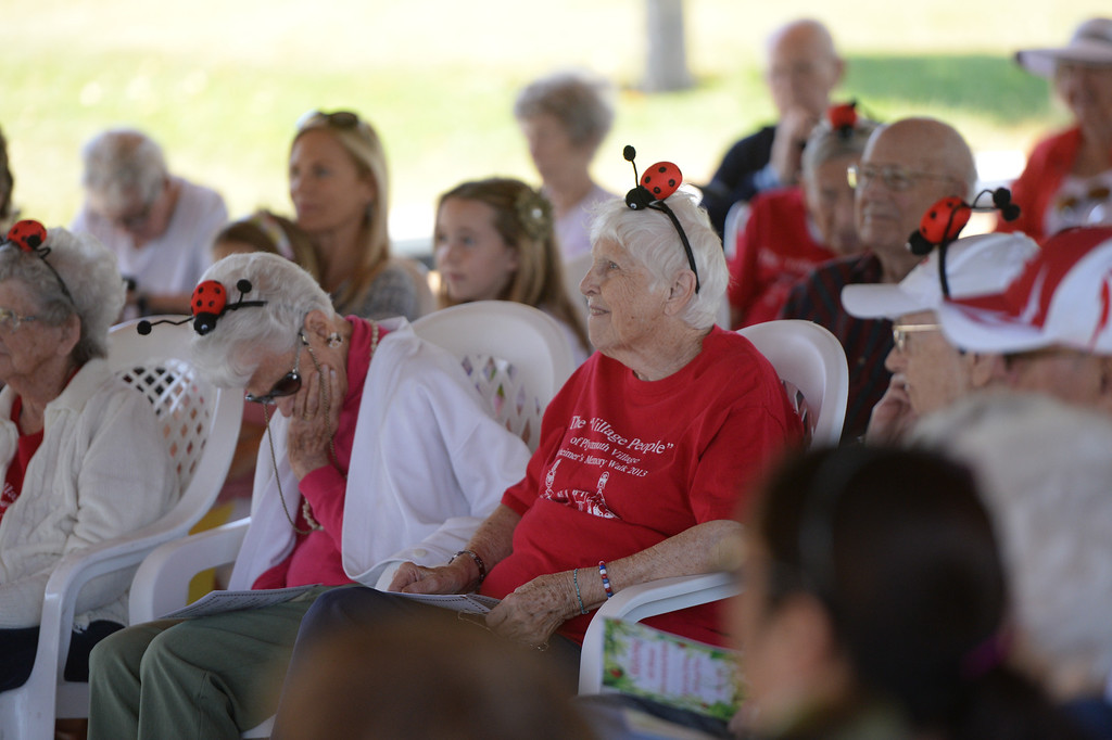 . The Grove at Plymouth Village in Redlands, held its 4th annual Ladybug Release party, letting thousands of the beetles go at the senior living retirement community on Thursday, June 12, 2014. (Photos by John Valenzuela/ Redlands Daily Facts)
