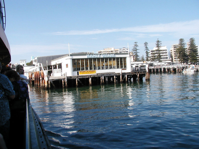 Arriving Manly Wharf