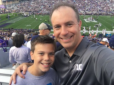 Oct. 7: Quinn & Jason at Northwestern Football Game