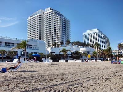 Ft. Lauderdale Hilton Beach Resort and Beach Scenes - January 2011
