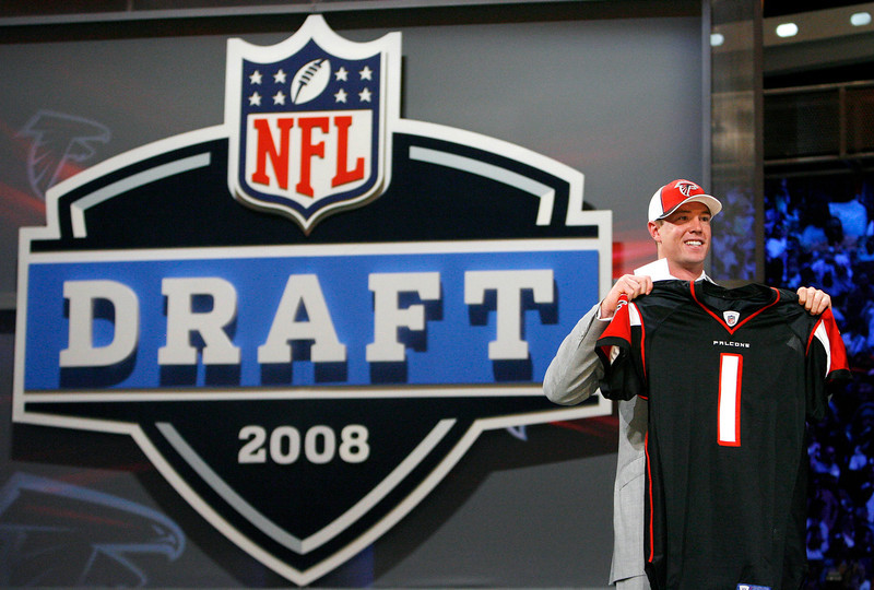 . Matt Ryan, Boston College Selected third overall by the Falcons 2008 Ryan has guided the Falcons to the playoffs in four of his five seasons � though he�s only compiled a 1-4 postseason record � and has a 56-22 record as a starter. He�s thrown twice as many touchdowns (127) as interceptions (60), and is a two-time Pro Bowler.  GRADE: A+. Will be among the elite quarterbacks in the NFL for several more seasons, and should eventually deliver Falcons fans some Super Bowl hardware. (AP Photo/Jason DeCrow)