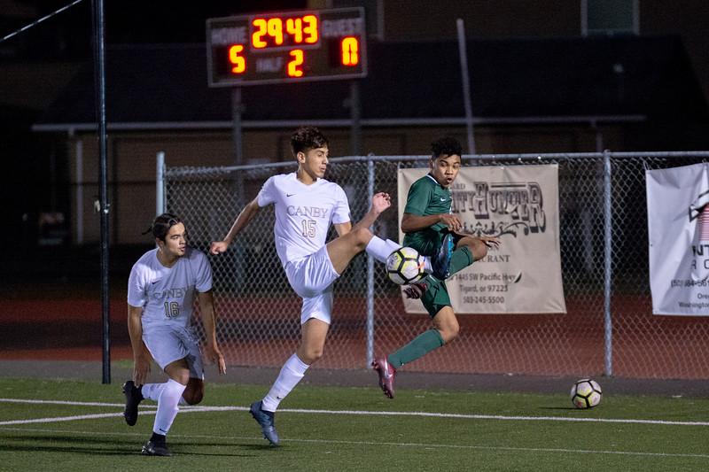 THS Boys Varsity Soccer vs Canby