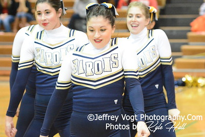 1-17-2015 Bethesda Chevy Chase HS Varsity Poms at Damascus HS Invitational, MCPS Championship, Photos by Jeffrey Vogt Photography with Kyle Hall