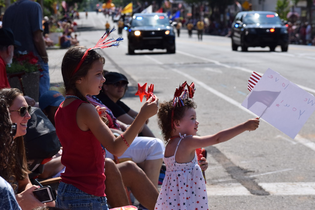 . Families celebrated the Fourth of July Tuesday during the GoFourth! Festival in Pottstown. Tuesday morning kicked off with a parade down High Street and guests then made their way to Memorial Park for continued festivities.--Marian Dennis, Digital First Media