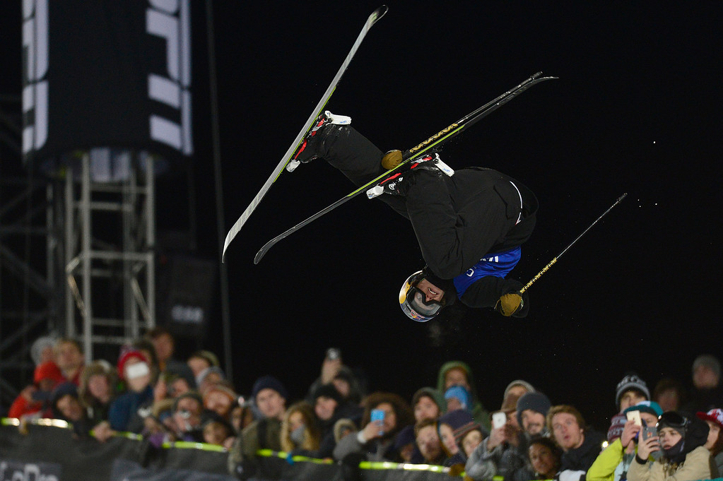 . Torin Yater-Wallace goes for a trick on his third run during the finals of men\'s ski halfpipe at Winter X Games 2016 at Buttermilk Mountain on January 28, 2016 in Aspen, Colorado. Kevin Rolland took the gold in the event with a score of 93.33 with the win coming after his final run. (Photo by Brent Lewis/The Denver Post)