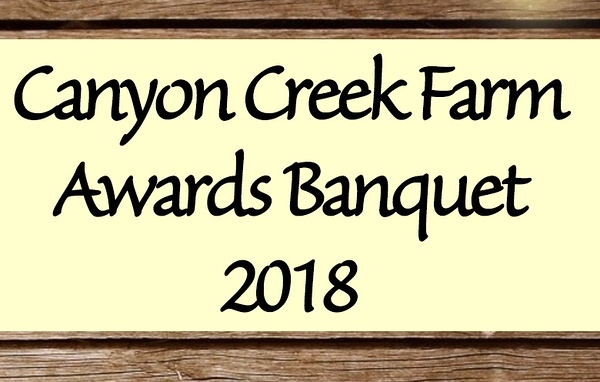 Awards Banquet November 17, 2018