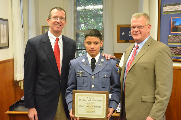 New Day Scholarship Recipient is Awarded to Cadet Mendoza