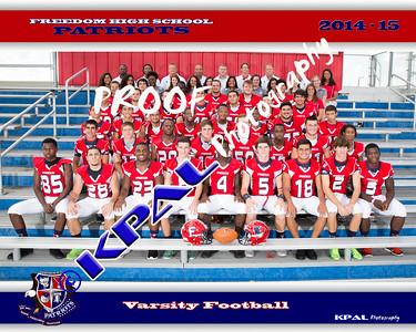 Freedom High School Football Team Photos 2014