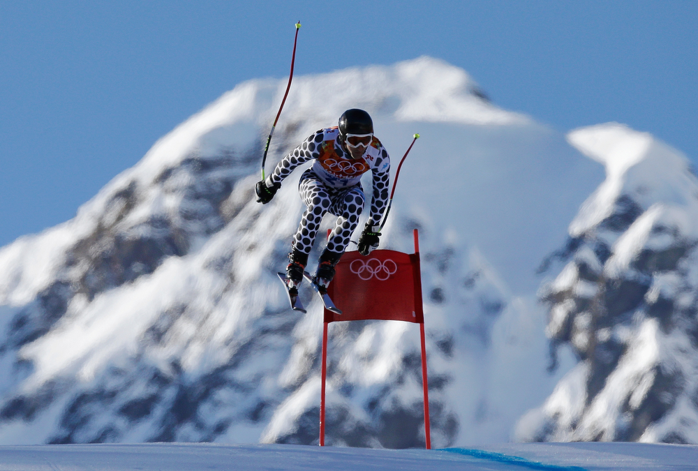 . Cristian Javier Simari Birkner of Argentina competes during the Alpine Skiing Men\'s Super Combined Downhill on day 7 of the Sochi 2014 Winter Olympics at Rosa Khutor Alpine Center on February 14, 2014 in Sochi, Russia.  (Photo by Ezra Shaw/Getty Images)