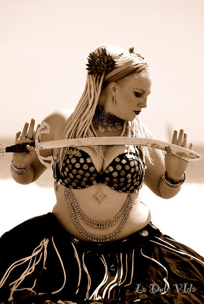 Holly Belly Dancing on the beach