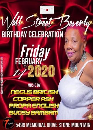 WALL STREET BEVERLY'S BIRTHDAY BASH 2020