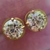 2.23ctw Old European Cut Diamond Stud Earrings 0
