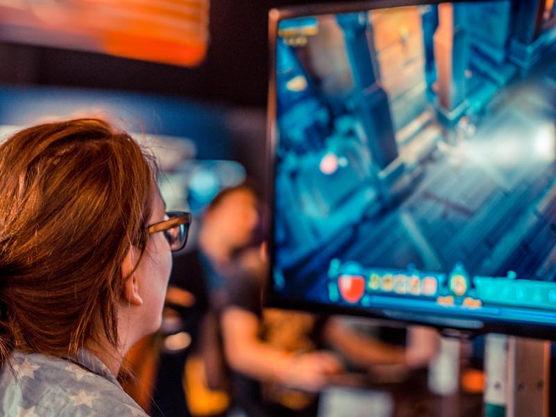 Gamer at Gamescom 2013