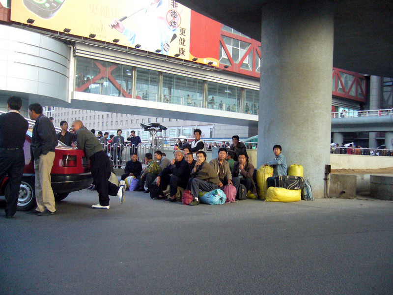 Beijing West Train Station, migrants looking for work Qinghai -Beijing to Tibet Railway, Beijing to Lhasa  Oct  2006