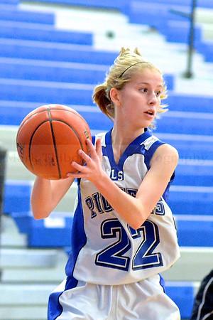 Lampeter-Strasburg Girl's Junior High Varsity Basketball v. LMH 1.28.14