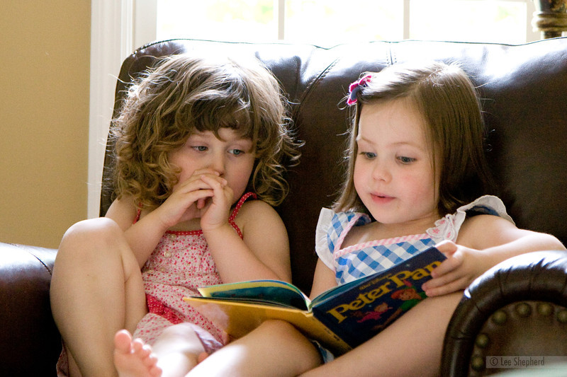 """Madeline, sit down, let me """"read"""" you a book."""