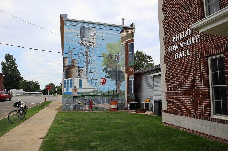 Mural next to the Philo Township Hall