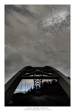 Cart Creek Bridge Over Flaming Gorge Reservoir
