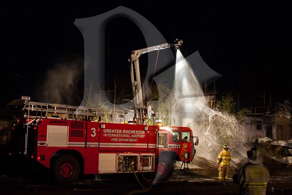 Burnwell Gas Explosion & HAZMAT - Mumford, NY 9/13/11