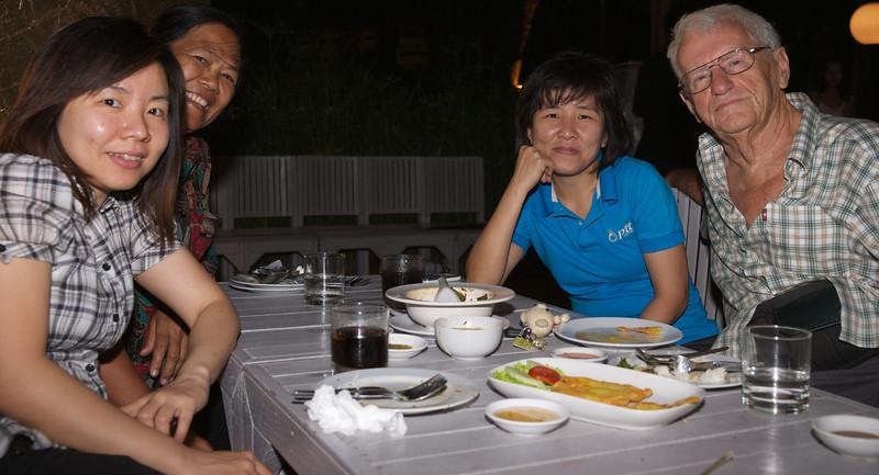 Dinner at Bangkok Brass restaurant
