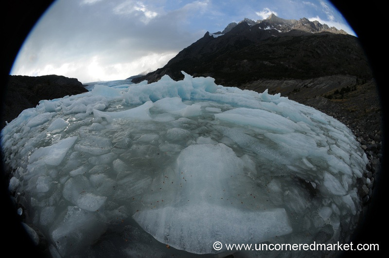 Fisheye Ice Floes - Torres del Paine National Park, Chile