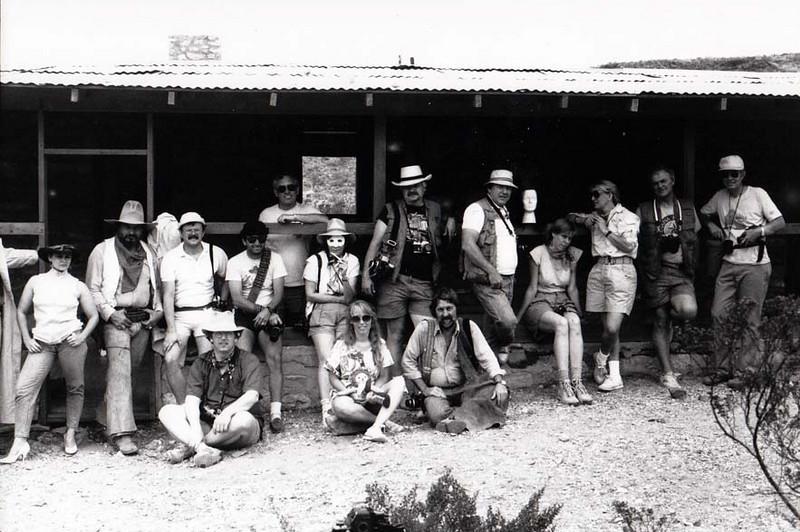 BIG BEND PHOTO WORKSHOP 1986 GROUP SHOT Homer Wilson Ranch, Big Bend National Park, Texas
