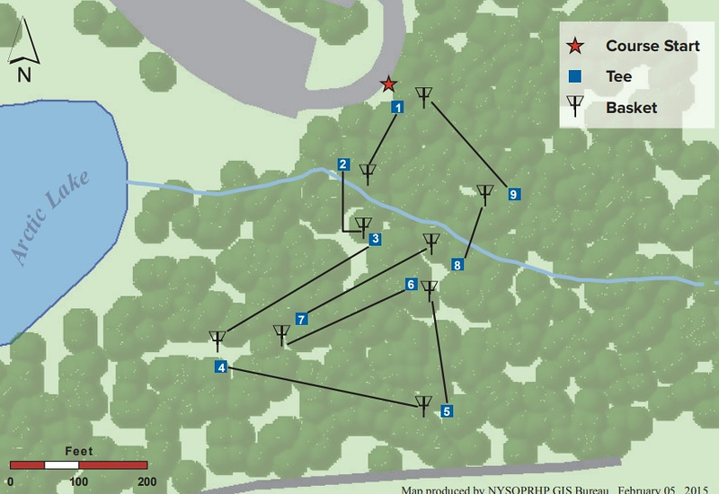Oquaga Creek State Park (Disk Golf Course Map)