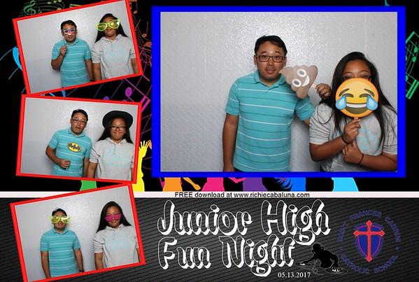 Saint Frances Cabrini Junior High Fun Night May 2017