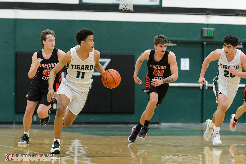 THS Boys Varsity Basketball vs Oregon City