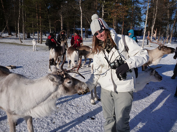 Me with the Reindeer